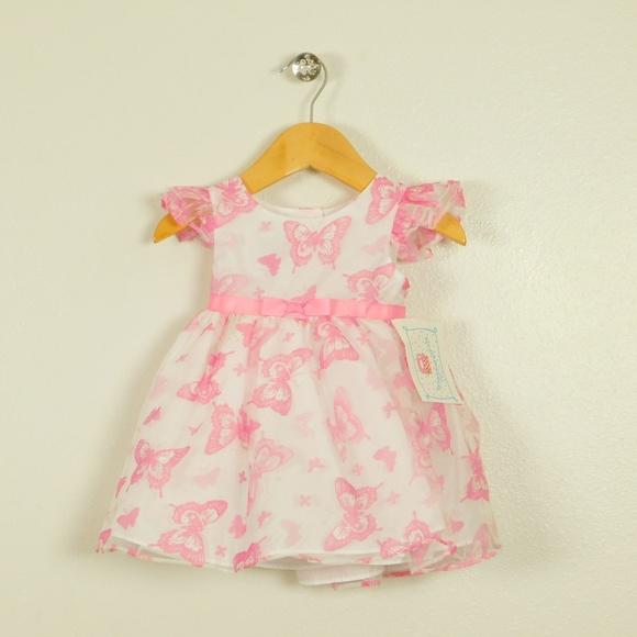 Marmellata Baby Girls Pink Striped Knit Dress